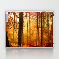 Forest Glow Laptop & iPad Skin