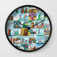 Barcelona anno 1 Wall Clock