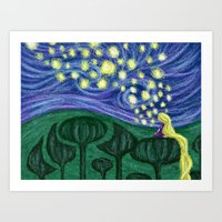 Impressionist Lanterns Art Print