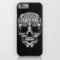 iPhone & iPod Case featuring Cranium Butterflies B&W Option by Caleb Troy