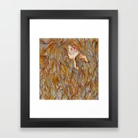 Hair Drowning  Framed Art Print