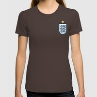 England Minimal Womens Fitted Tee Brown SMALL