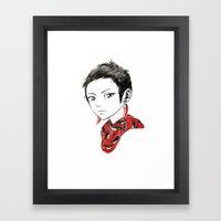 Paprika Girl Framed Art Print