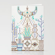 Santa Fe Garden – Turquoise & Brown Stationery Cards