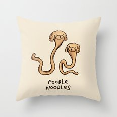 Poodle Noodles Throw Pillow