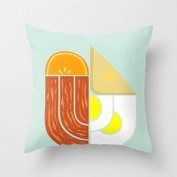 Breakfast Crest Throw Pillow