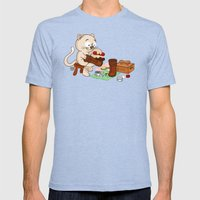 Puss in boots Mens Fitted Tee Tri-Blue SMALL