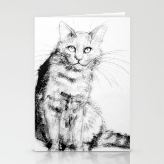 ちょっとしぶい猫 Stationery Card