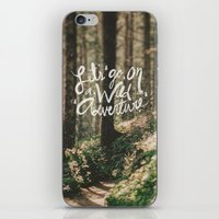 Let's Go On A Wild Adven… iPhone & iPod Skin