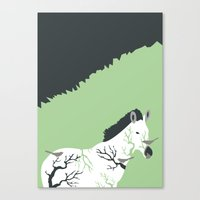 Zebra In The Woods Canvas Print