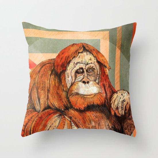 Mr. Orangutan Throw Pillow