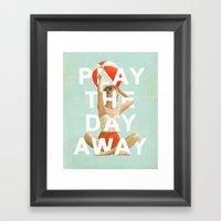 Play The Day Away Framed Art Print