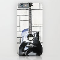 iPhone & iPod Case featuring Be Your Song and Rock On in White by ArtsyCanvasGirl Designs