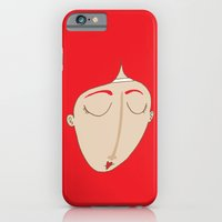 iPhone Cases featuring The sad redhead girl by Adrian Serghie