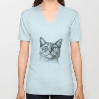 Cross Eyed cat G122 Unisex V-Neck