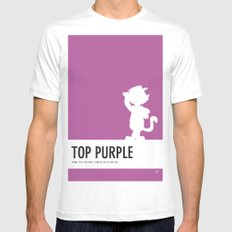 No11 My Minimal Color Code poster Top Cat SMALL Mens Fitted Tee White