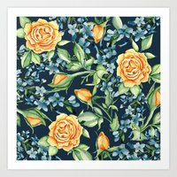 roses Art Prints featuring Roses by Julia Badeeva