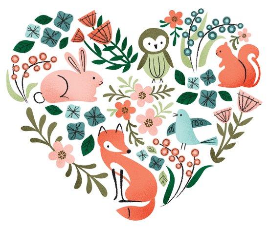 Animal Heart Art Print