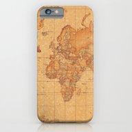 World Map LeaTher iPhone 6 Slim Case