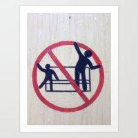 #NoDancing Art Print