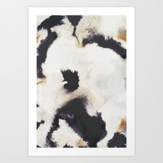 Ink and coffee Art Print