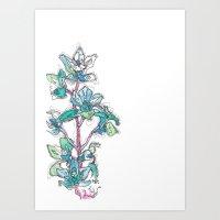 Calahan's Orchids Art Print