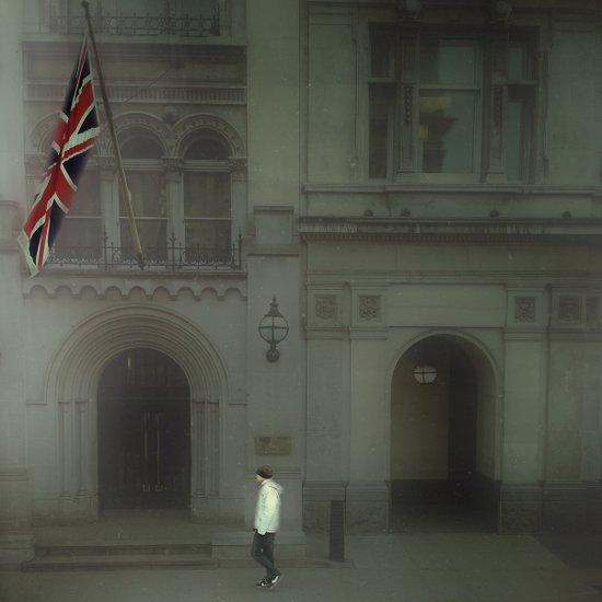 Walking In London. Art Print