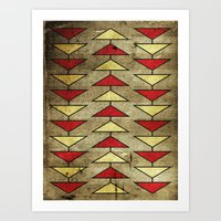 Navajo Arrows Art Print
