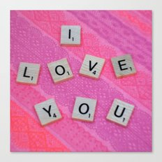 Darling I Love You In Pink Canvas Print