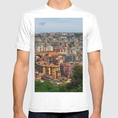 Skyline White SMALL Mens Fitted Tee