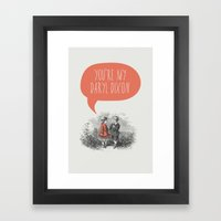 Walking Dead Love Story Framed Art Print
