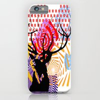 iPhone & iPod Case featuring Mrs Stag by Ashley James
