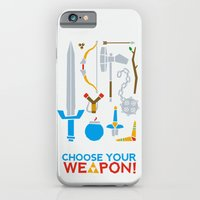 iPhone & iPod Case featuring Choose Your Weapon by John Tibbott