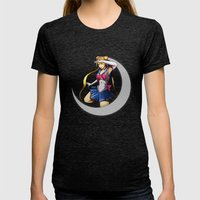 Sailor Moon Womens Fitted Tee Tri-Black SMALL