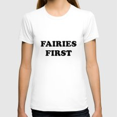 Fairies first Womens Fitted Tee White SMALL
