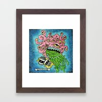 Drunk Beholder Framed Art Print