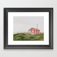 That red house Framed Art Print