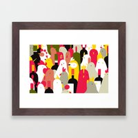 chickens & wine Framed Art Print