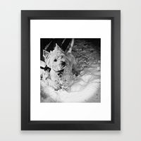This Is Snow More Fun Framed Art Print