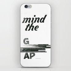 mind the gap iPhone & iPod Skin