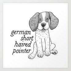 Dog Breeds: German Shorthaired Pointer Art Print