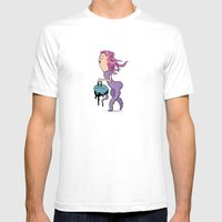My Wife Is Strange Mens Fitted Tee White SMALL