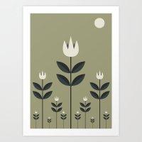 The White Tulips Of Amst… Art Print