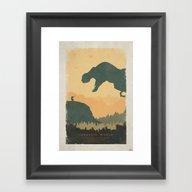 Creation - Jurassic Worl… Framed Art Print