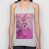 The Sentinal ~ Pink Abstract Unisex Tank Top