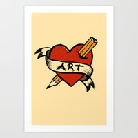 In love with Art Art Print