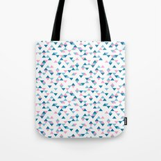 Triangles Blue and Pink Repeat Tote Bag