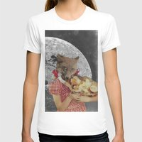 Counting chickens Womens Fitted Tee White SMALL
