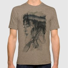 Into thick woods alone Mens Fitted Tee Tri-Coffee SMALL