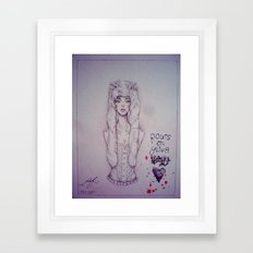 Blood. Framed Art Print